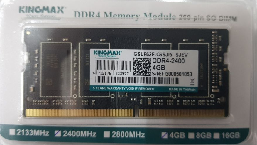 Ram laptop 4gb ddr4 bus 2133/ 2400